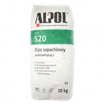 Гипс шпатлевочный AGS 20 20 кг Alpol