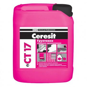 Грунтовка глубокого проникновения СТ 17 Ceresit 10 л