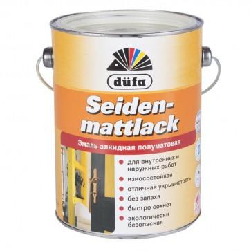 Эмаль полуматовая Dufa Siedenmattlack белая 2,5 л
