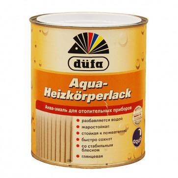 Эмаль для радиаторов глянцевая Dufa Aqua-Heizkorperlack белая 0,75 л