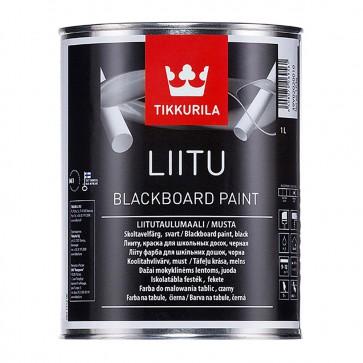 Эмаль для школьных досок матовая Tikkurila Liitu черная 1 л