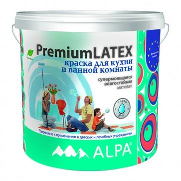 Краска для ванной и кухни латексная Alpa PremiumLatex 1 л