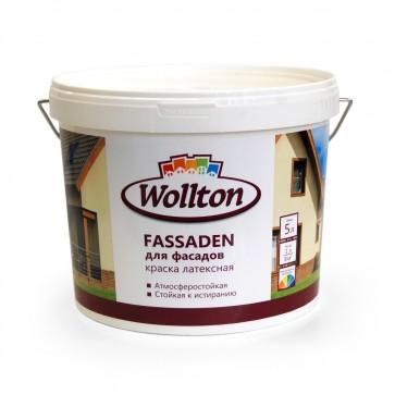 Краска фасадная латексная водно-дисперсионная Fassaden Wollton 5 л