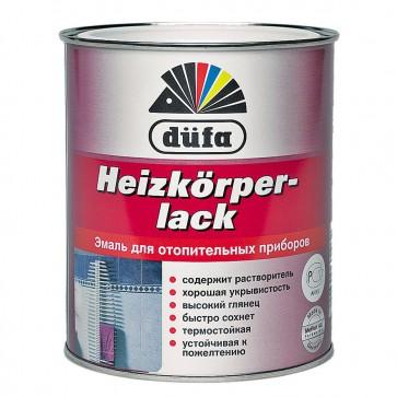 Эмаль для радиаторов глянцевая Dufa Heizkorperlack белая 0,75 л