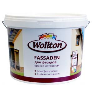 Краска фасадная латексная водно-дисперсионная Fassaden Wollton 10 л