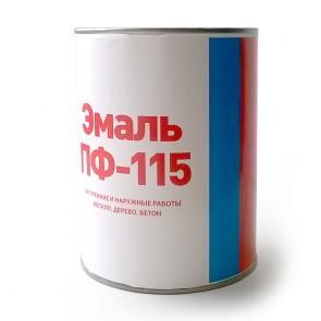Эмаль полуматовая ПФ-115 Discount белая 0,8 кг