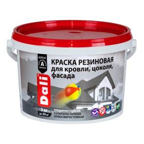 Краска фасадная резиновая акриловая Dali белая 3 кг
