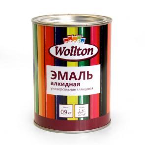 Эмаль глянцевая Wollton белая 0,9 кг