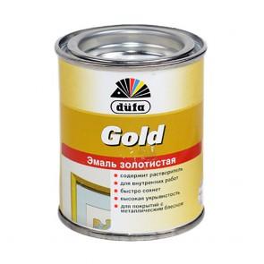 Эмаль декоративная глянцевая Dufa Gold золотистая 0,125 л