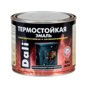 Эмаль термостойкая кремнийорганическая Dali черная 0,4 л