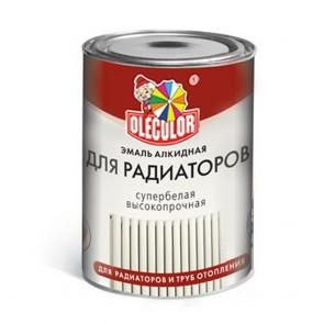 Эмаль для радиаторов полуглянцевая Olecolor белая 0,9 кг